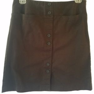 Ann Taylor Loft Brown Mini Skirt w Stretch
